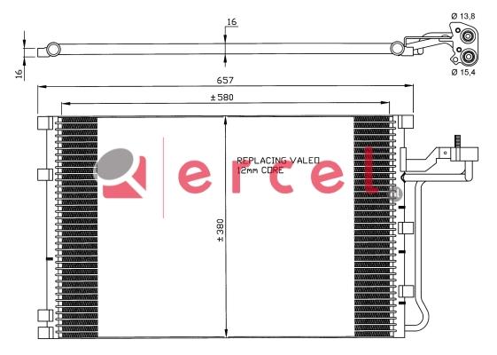 Airco condensor VOC 582