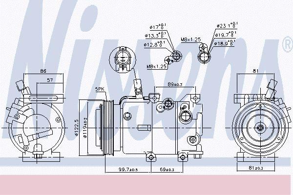 Airco compressor HYK 048