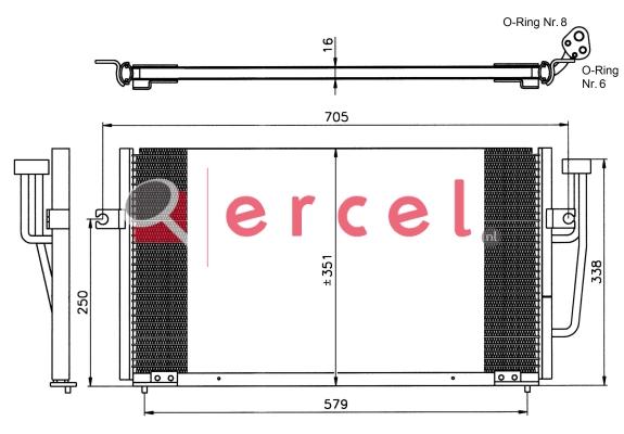 Airco condensor VOC 542