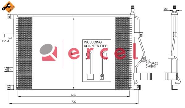 Airco condensor VOC 564