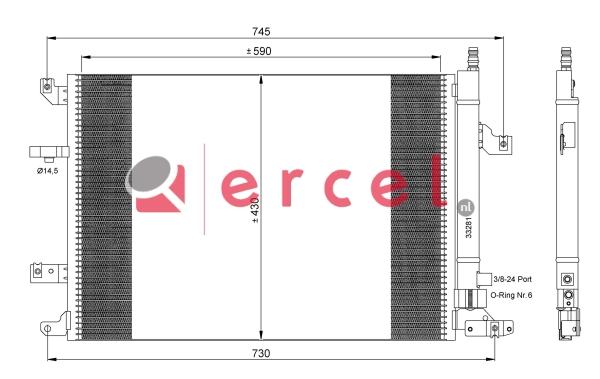 Airco condensor VOC 572