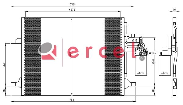Airco condensor VOC 567