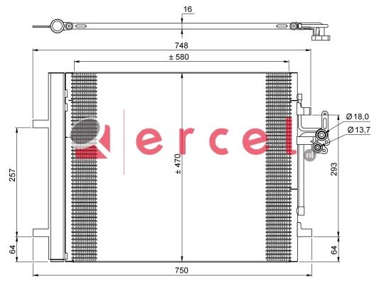 Airco condensor VOC 584