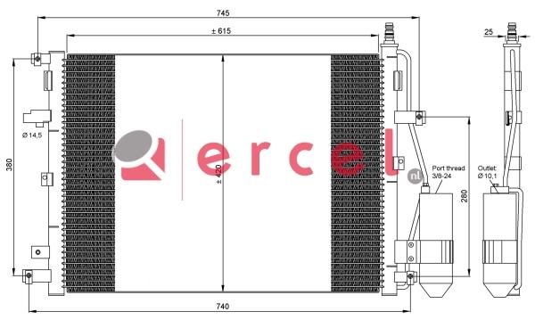 Airco condensor VOC 511