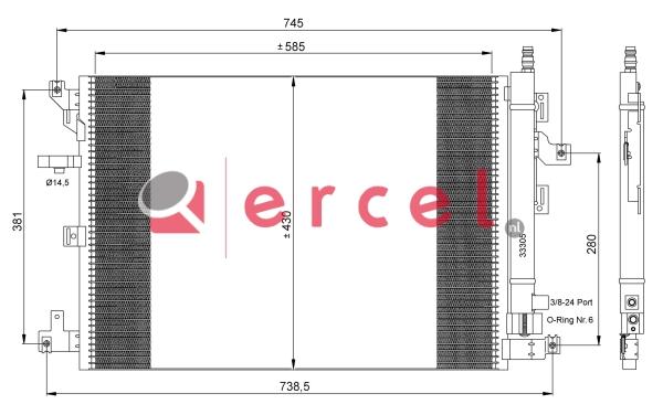 Airco condensor VOC 517