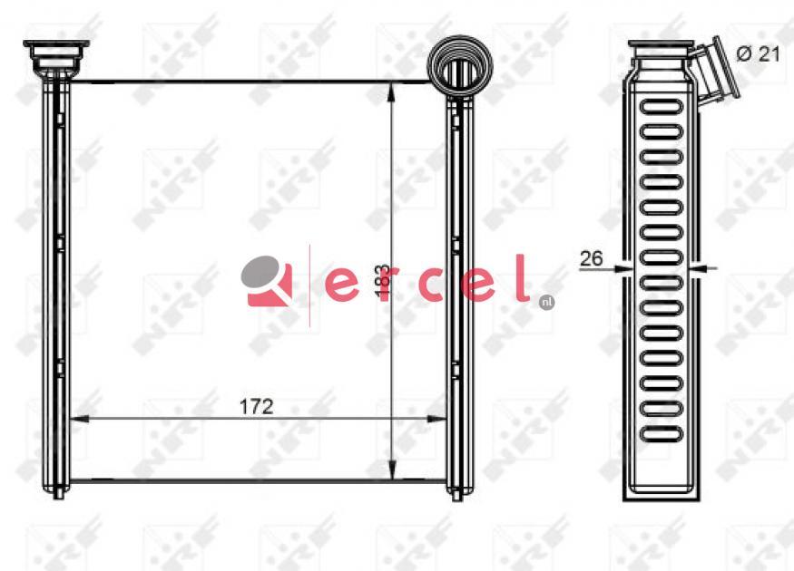 Kachelventilatormotor-/wiel AUB 224
