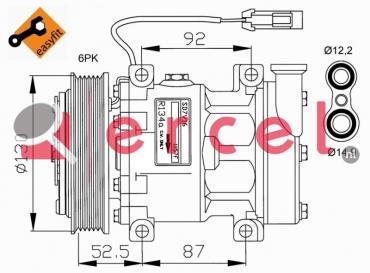 Airco compressor ARK 002 OEM