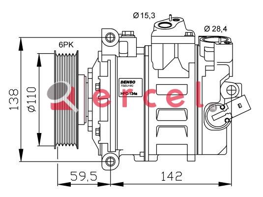 Airco compressor VWK 025 OEM
