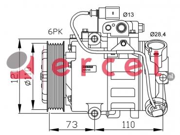 Airco compressor SEK 002 OEM