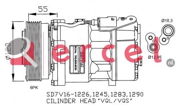 Airco compressor AUK 020 OEM