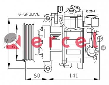 Airco compressor AUK 044 OEM
