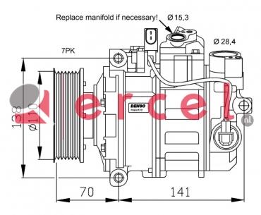 Airco compressor VWK 091 OEM