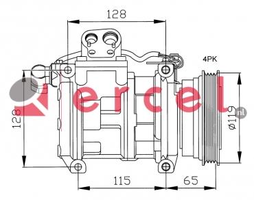 Airco compressor BMK 007 OEM