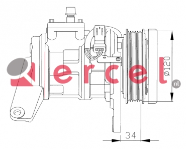 Airco compressor CRK 014 OEM