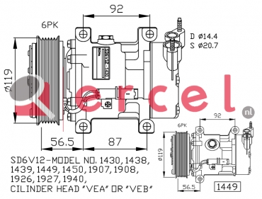 Airco compressor PEK 005 OEM