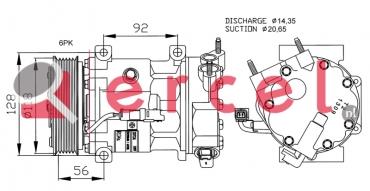 Airco compressor CIK 028 OEM