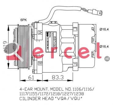 Airco compressor CIK 002 OEM