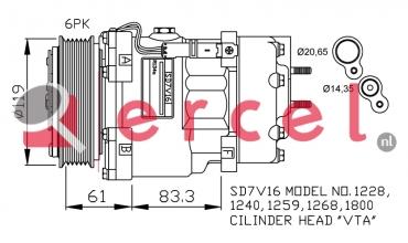 Airco compressor CIK 018 OEM
