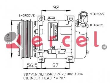 Airco compressor CIK 029 OEM
