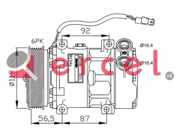 Airco compressor PEK 001 OEM