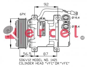 Airco compressor CIK 004 OEM