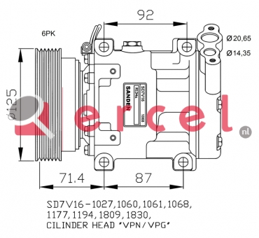 Airco compressor REK 099 OEM