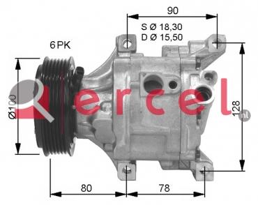 Airco compressor FIK 024 OEM