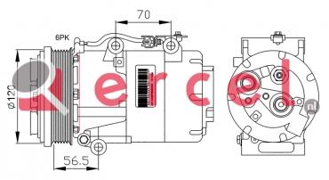 Airco compressor FOK 050 OEM