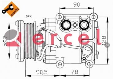 Airco compressor FOK 025 OEM