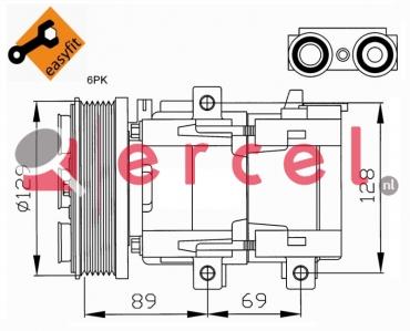Airco compressor FOK 033 OEM