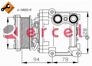 Airco compressor FOK 074 OEM