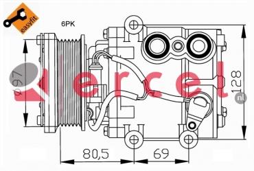 Airco compressor FOK 036 OEM