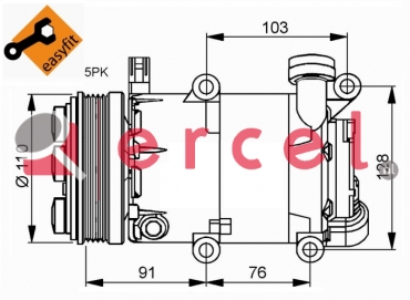 Airco compressor FOK 043 OEM