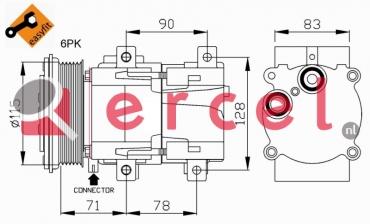 Airco compressor FOK 006 OEM