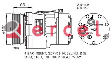 Airco compressor FOK 007 OEM