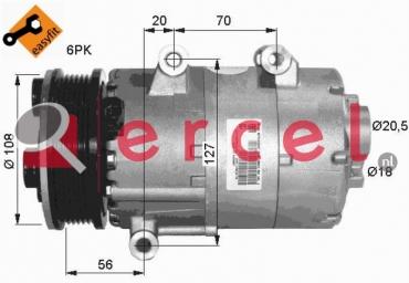 Airco compressor FOK 056 OEM