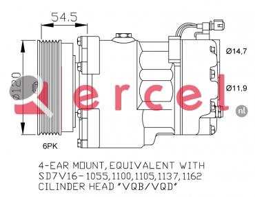 Airco compressor VWK 003 OEM