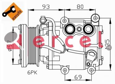 Airco compressor FOK 032 OEM