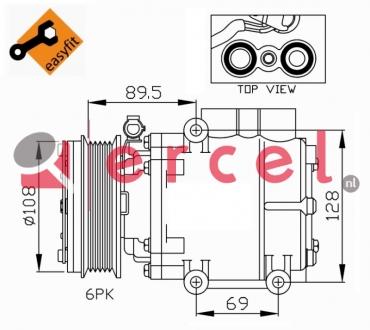 Airco compressor FOK 037 OEM