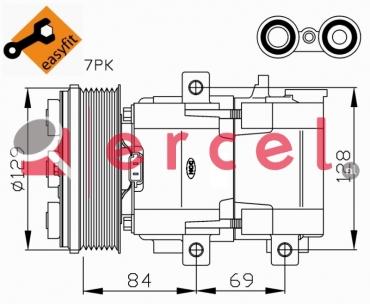 Airco compressor FOK 035 OEM