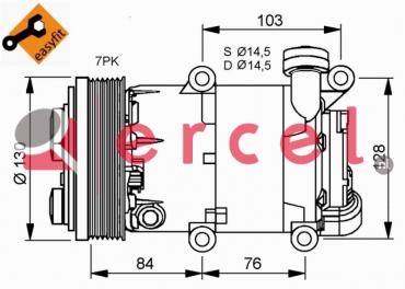 Airco compressor FOK 060 OEM