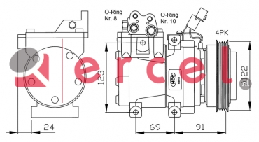 Airco compressor HYK 021 OEM