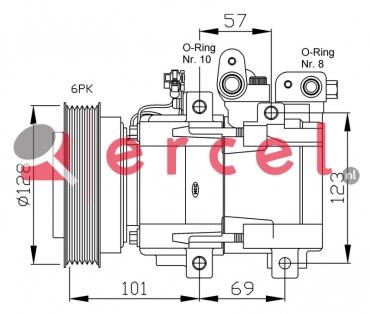 Airco compressor HYK 007 OEM
