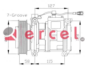 Airco compressor JPK 004 OEM