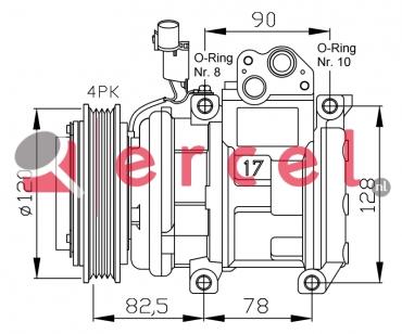 Airco compressor KAK 004 OEM