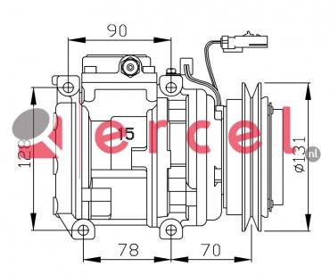 Airco compressor KAK 022 OEM