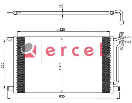 Airco condensor BMC 558