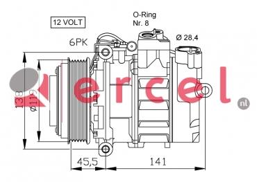 Airco compressor MBK 007 OEM