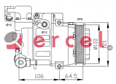 Airco compressor MBK 014 OEM