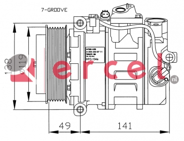 Airco compressor MBK 032 OEM